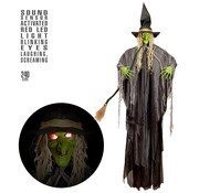 Widmann Halloween decoration witch 240 cm with light and sound