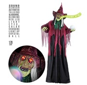 Widmann Halloween decoration witch 170 cm with light,sound and LED ball
