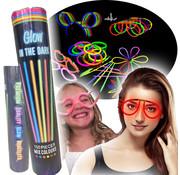 Breaklight.be Glow armbanden feest set  - 100 armbanden en 110 accessoires