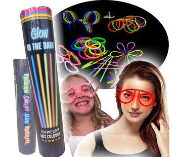 Breaklight.be XL Glow in the dark neon bracelets set
