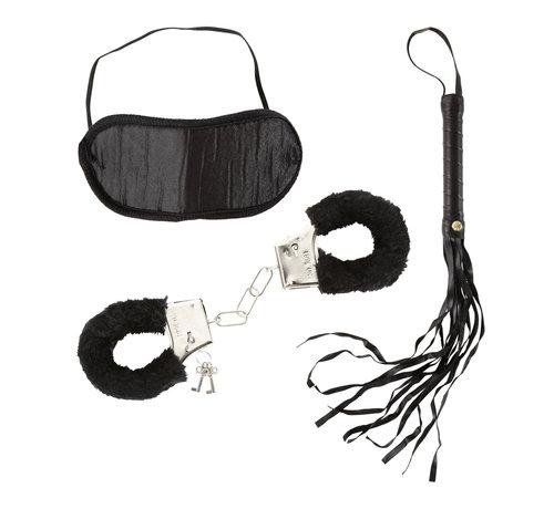 Widmann Love Set for lovers - Dominatrix Set - Fur handcuffs, headband and a whip