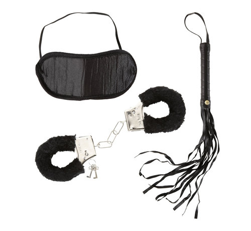 Widmann Love Set voor geliefden - Dominatrix Set -  Handboeien van bont, hoofdband en een zweepje