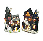 Halloween decoration haunted house candle holder - 2 pieces