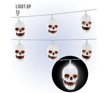 Widmann Halloween decoration skull LED light chain 250 cm
