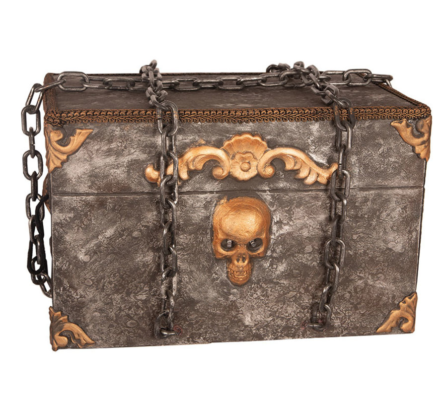 Moving Halloween Horror Box with light and sound - works on 2 X AA Batteries (  included )