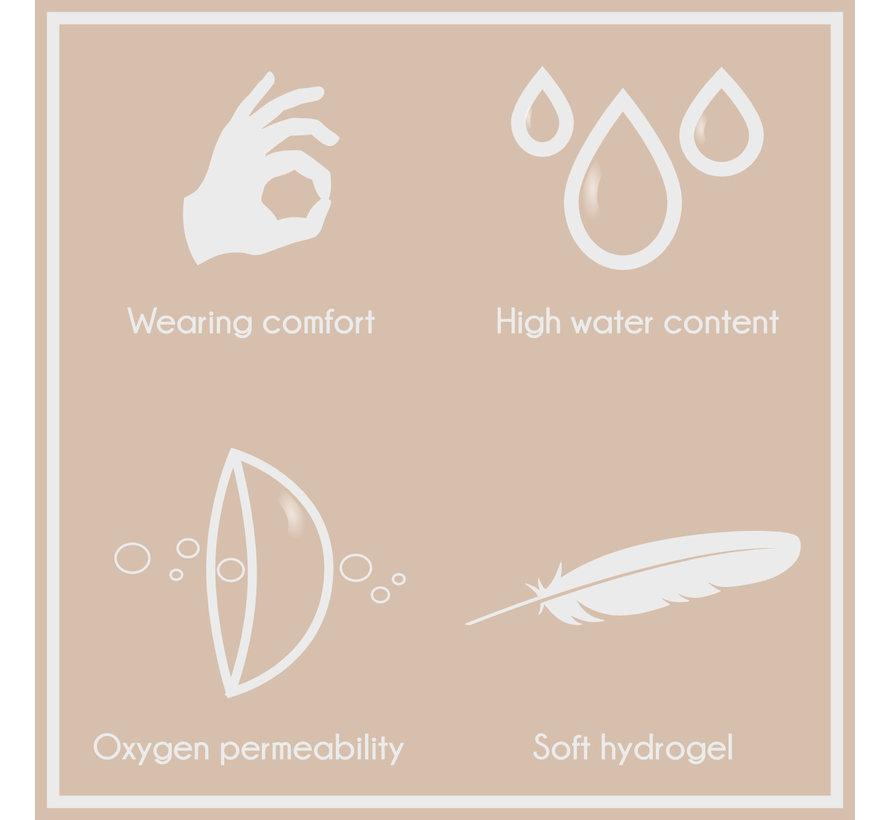 Snapped Sclera lenzen 22 mm zonder correctie- Zachte jaarlenzen - Nieuw design 2021