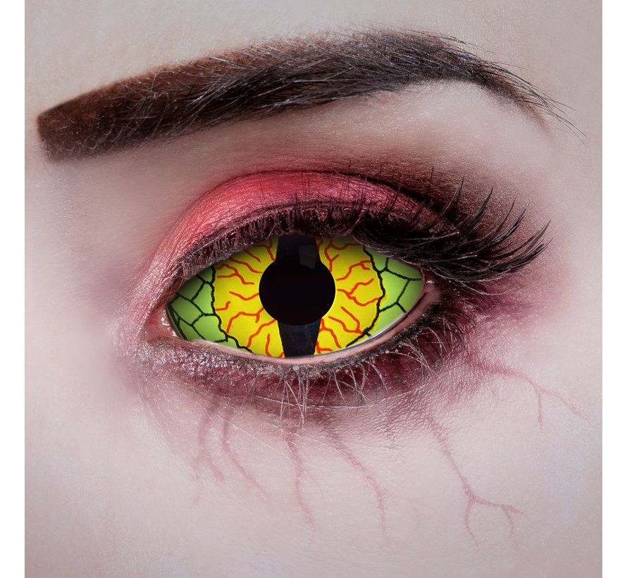 Dragon Eye Sclera lenzen 22 mm zonder correctie - Zachte jaarlenzen - Nieuw design 2021