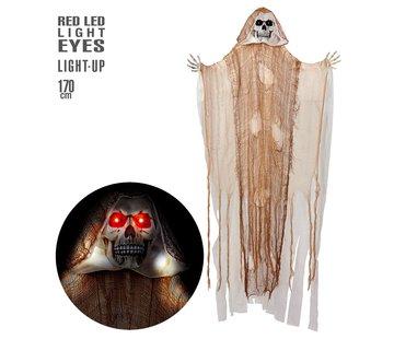 Widmann Halloween decoratie Magere Hein 170 cm met licht