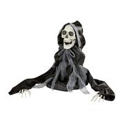 Widmann Halloween decoratie bewegende Magere Hein 50 cm met licht en geluid