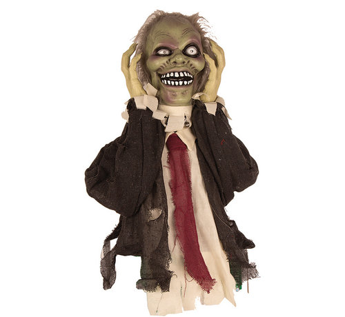 Partyline Halloween decoration moving zombie 55 cm with light and sound - Standing decoration