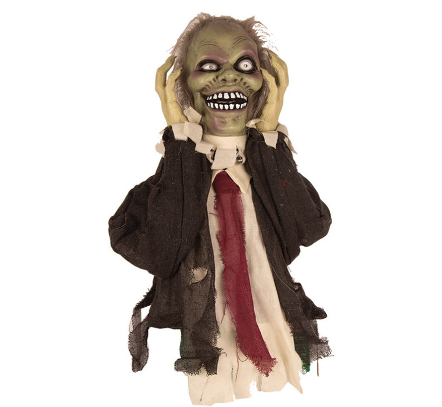 Halloween decoration moving zombie 55 cm with light and sound - Standing decoration