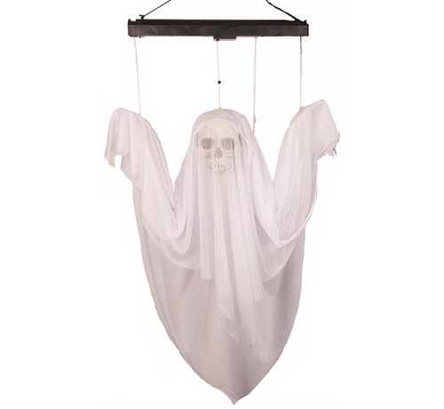 Partyline Halloween decoration moving ghost 120 cm with light and sound - 4 x AA batteries included