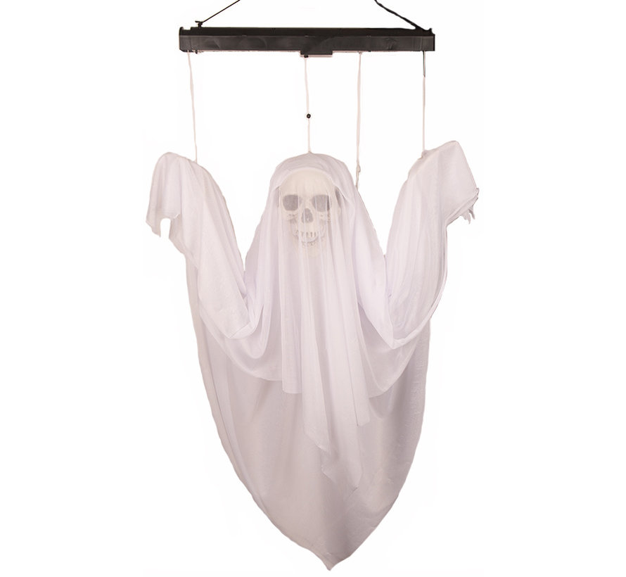Halloween decoration moving ghost 120 cm with light and sound - 4 x AA batteries included