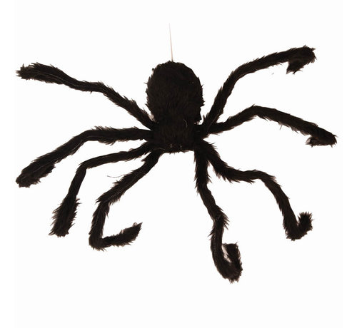 Partyline Halloween moving decoration spider 60 cm with light and sound - 3 x AAA batteries included