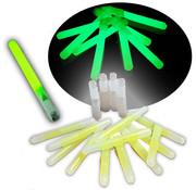 Breaklight.be 25 bâtons lumineux 16 cm verts avec sifflet