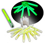 25 green glow sticks with whistle - delivered with cords - glow time 6-8 hours