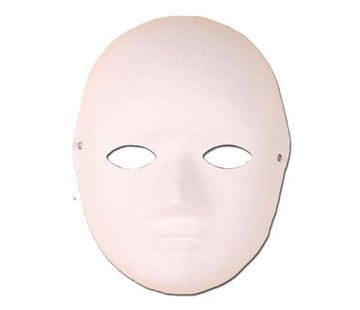 Partyline Mask Paper White Hobby |  Paint it yourself