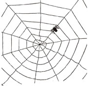 Partyline Spider web black 1,5m | Halloween deco