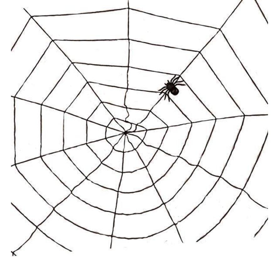 Spinnenweb zwart 1,5m | Halloween deco