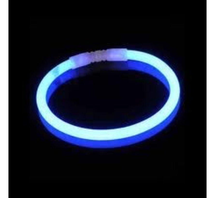 Blauwe glow armbanden