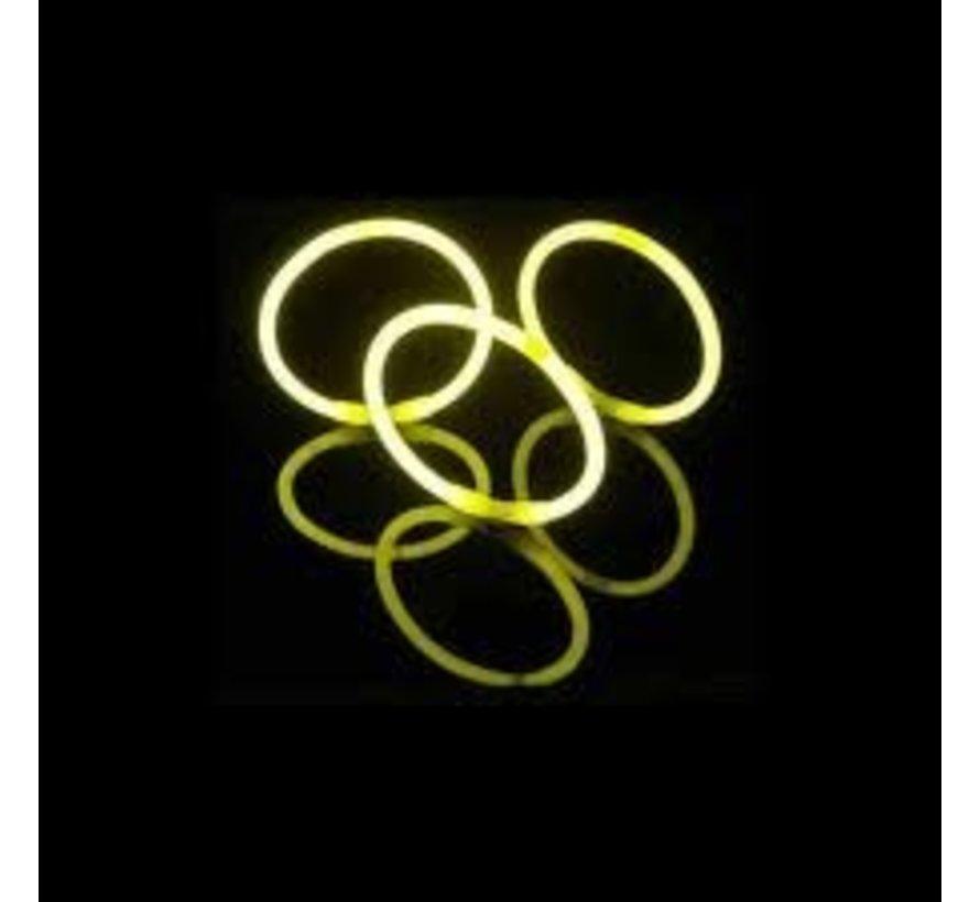 Yellow glow bracelets