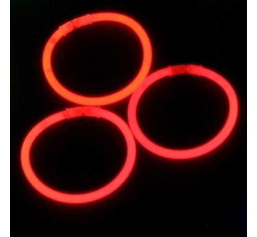 Rode glow armbanden