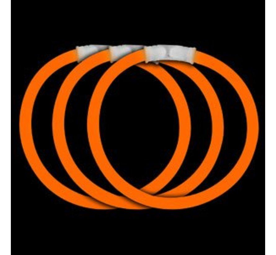 Oranje glow armbanden