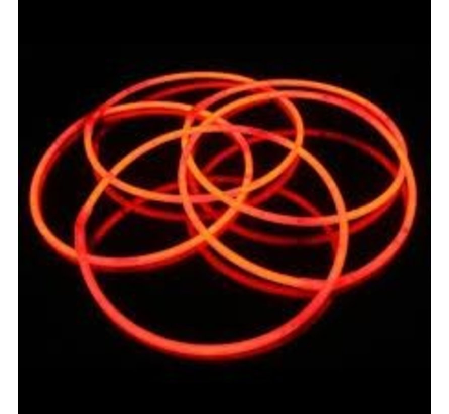 "22"" Glow Halskettingen Rood"