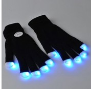 Breaklight Multicolor LED Gloves - Black