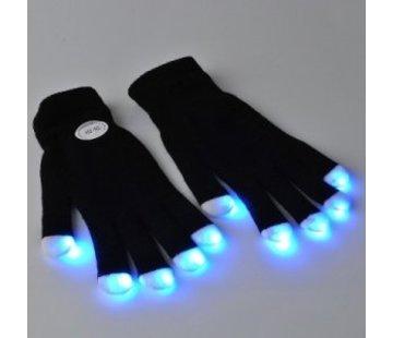 Breaklight Multicolor LED Gloves - Black