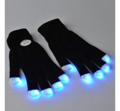 Breaklight.be Paire de gants lumineux LED -- Noir