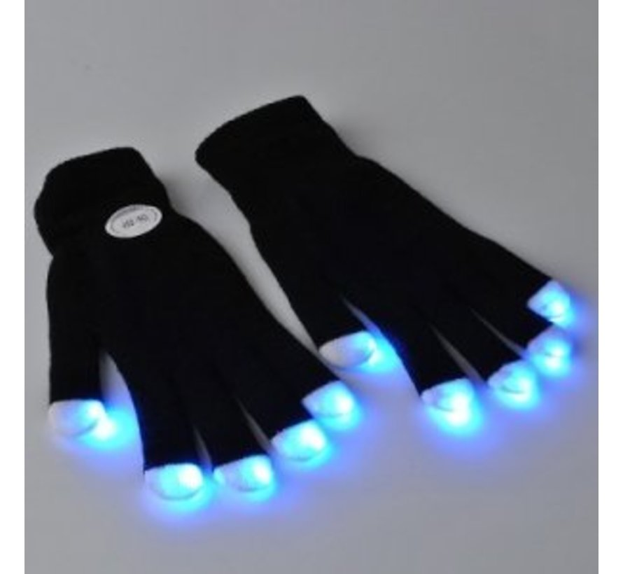 Led Gloves (black) - Luminous gloves