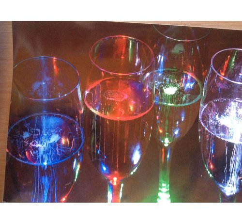Breaklight.be Deluxe Led Champagne Glass ( set 4 pieces )