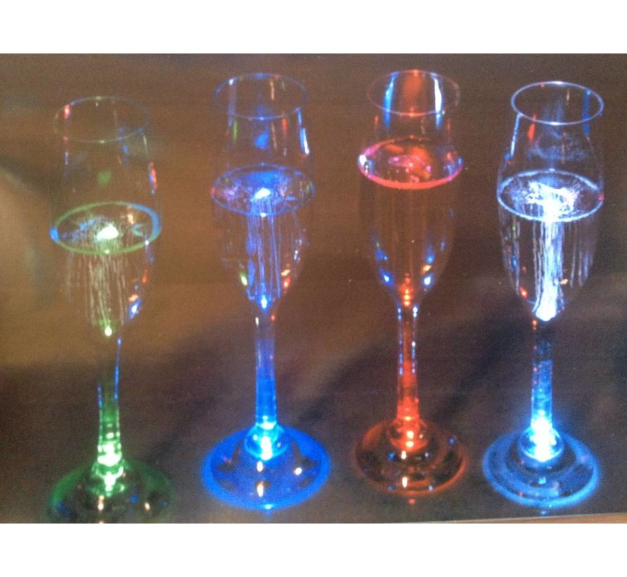 Deluxe Led Champagne Glass ( set 4 pieces )