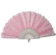 Partyline Waaier roze | Spaanse Waaier | Waaier in het roze met zilver
