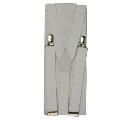 Partyline White Suspenders