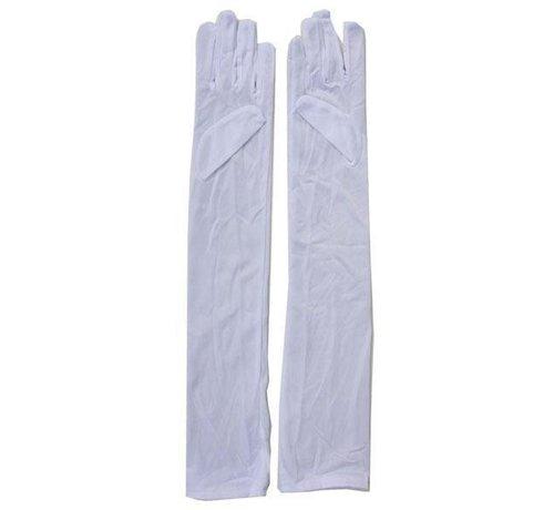 Partyline Witte Lange Handschoenen  55cm
