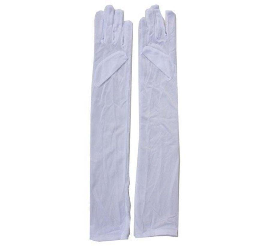 White Long Gloves Long 55 cm