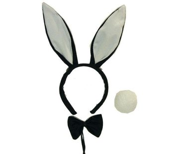 Partyline Set Bunny Black