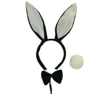 Partyline Set Bunny Zwart