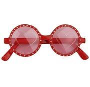 Partyline Lunettes coeurs rouges | Lunettes de fête de carnaval