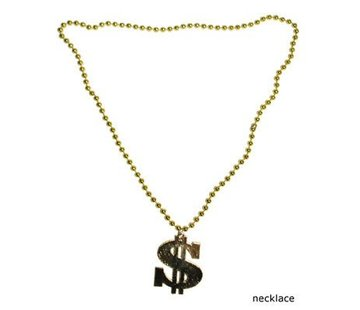 Funny Fashion Dollar Halsketting