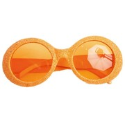 Disco Glasses Glitter Neon Orange