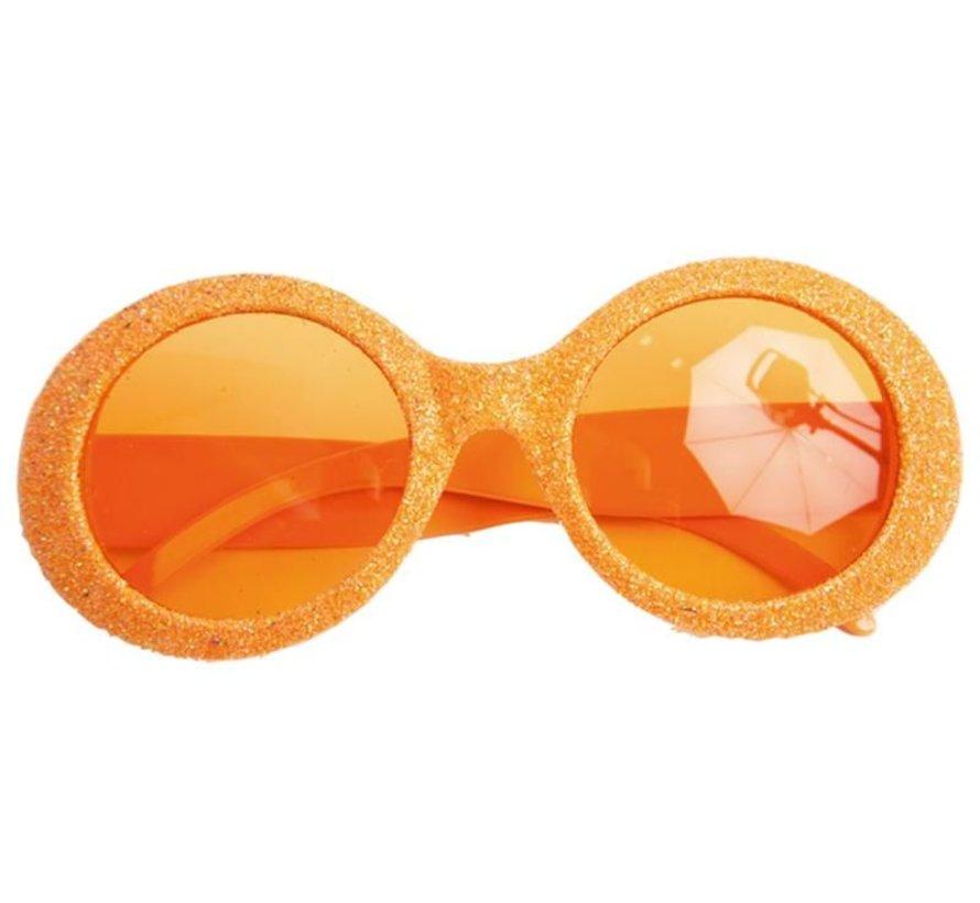 Lunettes Disco Brillant Neon Orange