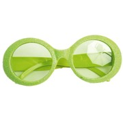 Partyline Disco Glasses Glitter Neon Green