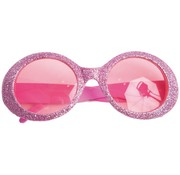 Disco Glasses Glitter Neon Pink