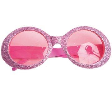 Partyline Lunettes Disco Brillant Neon Rose