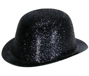 Partyline Bolhoed Plastic Glitter Zwart