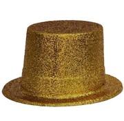Topper Hat Plastic Glitter Gold