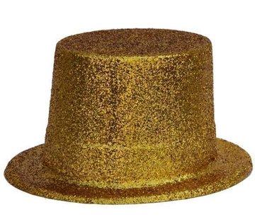Partyline Chapeau Haut Plastique Brillant Or